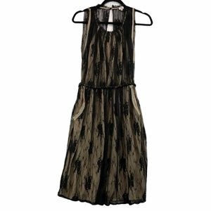 Aritzia Wilfred Distressed Lace Sleeveless Dress